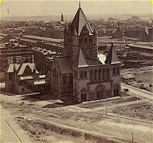 Trinity Church under construction, c. 1875