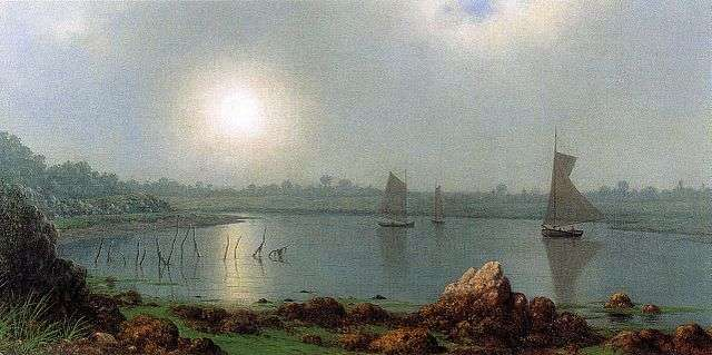 York Harbor, 19th-century painting