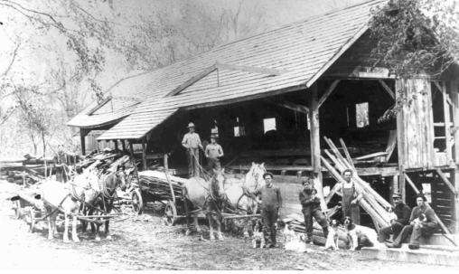 A Weare, N.H., sawmill, ca., early 20th century
