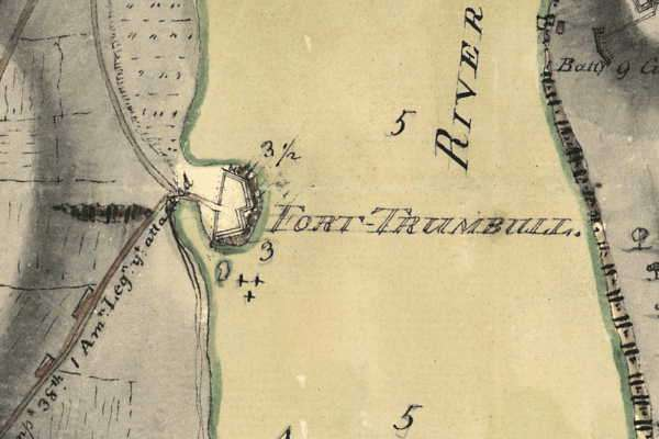 Map of Fort Trumbull, drawn by a British soldier