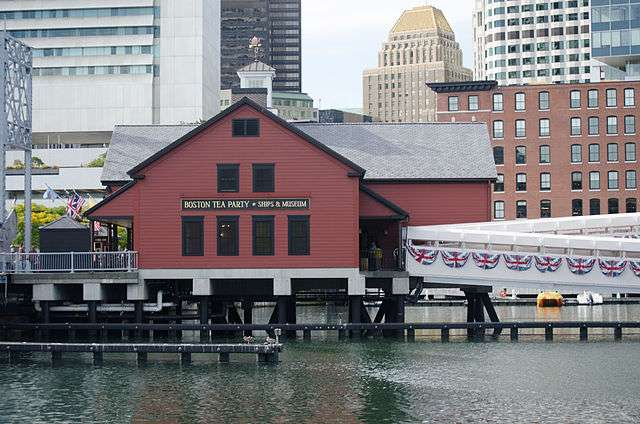 The Boston Tea Party Museum in Fort Point Channel