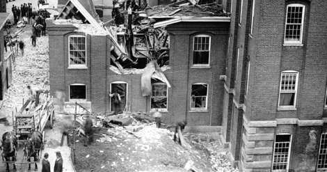amoskeag mill disaster ruins