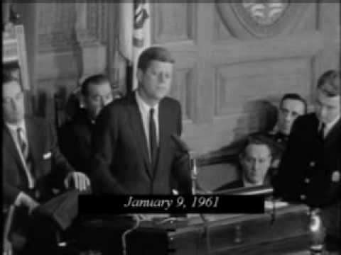 Kennedy delivers the City Upon a Hill speech