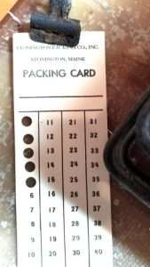 A sardine packing card