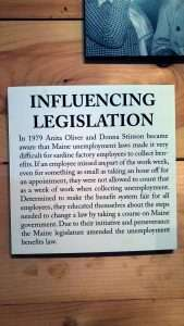 How two Stonington sardine workers changed the law, from the Deer Isle-Historical Society exhibit.