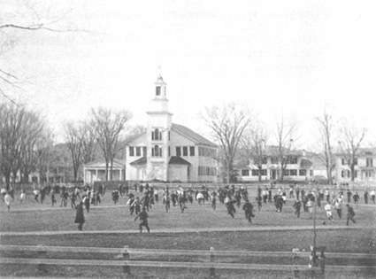 Football on Dartmouth's green