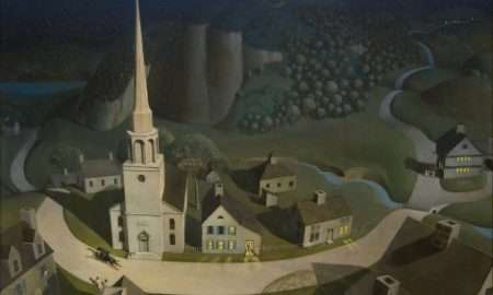 The Midnight Ride of Paul Revere by Grant Wood