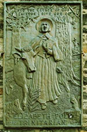 Plaque depicting Elizabeth Poole