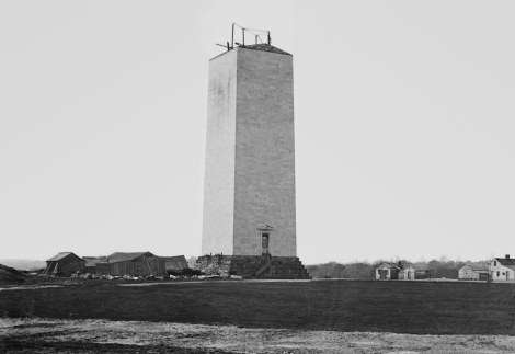 The Washington Monument about 1860