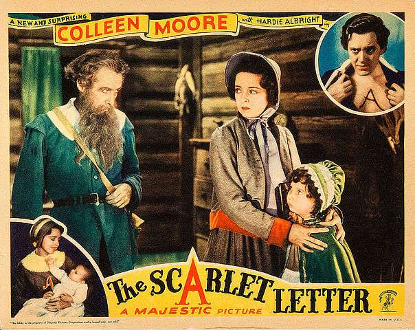 Lobby card for the 1934 version of The Scarlet Letter.