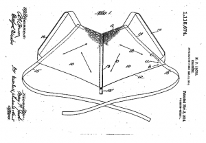 Bra diagram, 1914