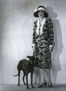 Caresse Crosby and her whippet, Clytoris