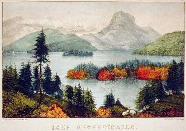 currier and ives Memphremagog print