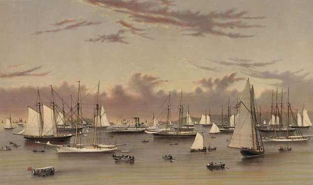 currier and ives yacht squadron