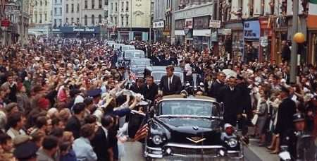 President John F. Kennedy visits Cork, Ireland, in 1963.