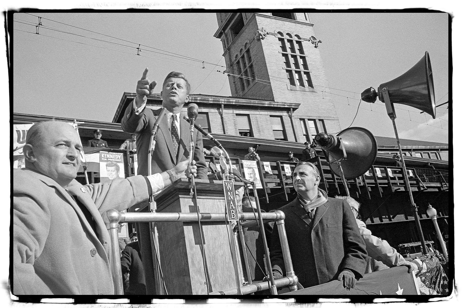 JFK Campaign at Bridgeport,CT train station 1960