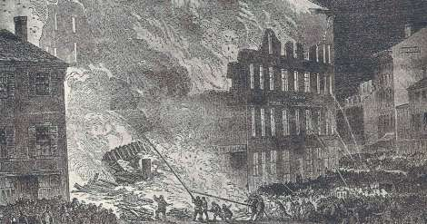 1852 Chickering Factory Fire (Harper's)