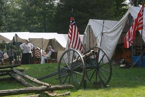 Historic reenactment at Mount Independence