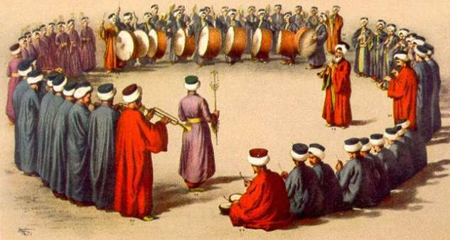 An Ottoman military orchestra