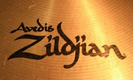 Display in the Zildjian corporate lobby of cymbal makers