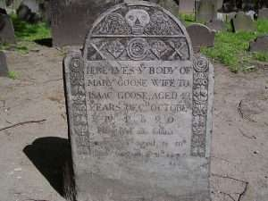 Mary Goose tombstone