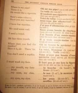 Robert Remington's French Phrase Book for Soldiers