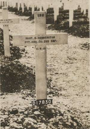 Robert Remington was first buried in France before he was moved to Hamden