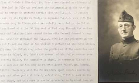 Photo and short biography of Stanley Schutz, compiled by Edward H. Crocker, who spent years assembling records of people who served. They are now in the CSL World War I archive.