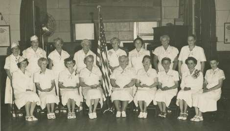 Hartford Chapter, Red Cross. The ladies gave out comfort kits, which included candy, cigarettes, postcards, sewing items.