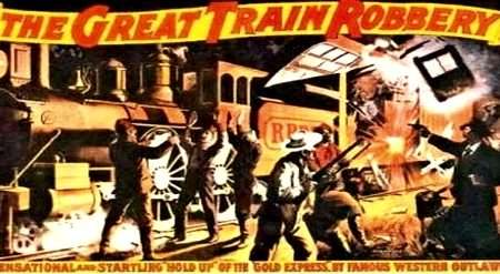 Movie poster for the Great Train Robbery.