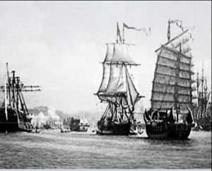 One of the first American ships to trade with China.