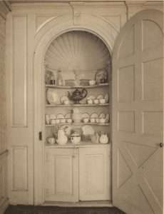 Shell dome cupboard and contents, Joseph Webb House