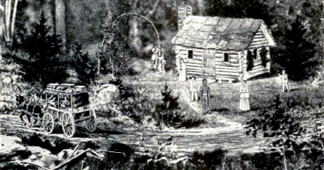 Barkhamsted Lighthouse (1864) from The story of Connecticut by Mills, Lewis Sprague.