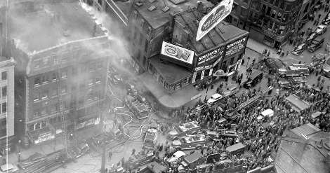 1948 Fire at the Crawford House (Boston Public Library Leslie Jones Collection)