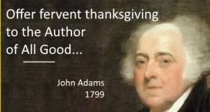 john adams thanksgiving
