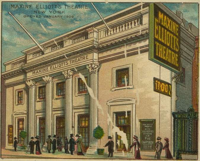 Maxine Elliott Theatre (Billy Rose Theatre Division, The New York Public Library)