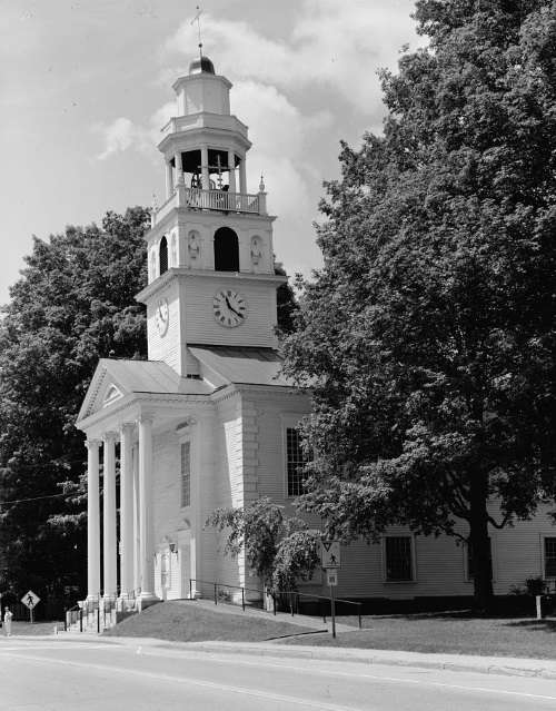Old South Church, one of four buildings in Windsor designed by Asher Benjamin.
