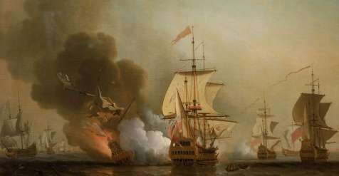 John Hull's One-Time Apprentcs Charles Wager Saw Action off Cartagena
