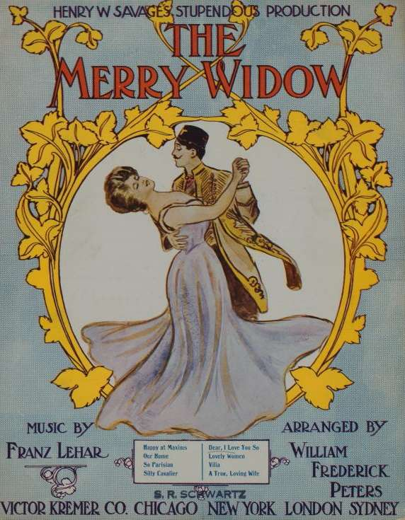 Henry Savage produced the operetta the Merry Widow